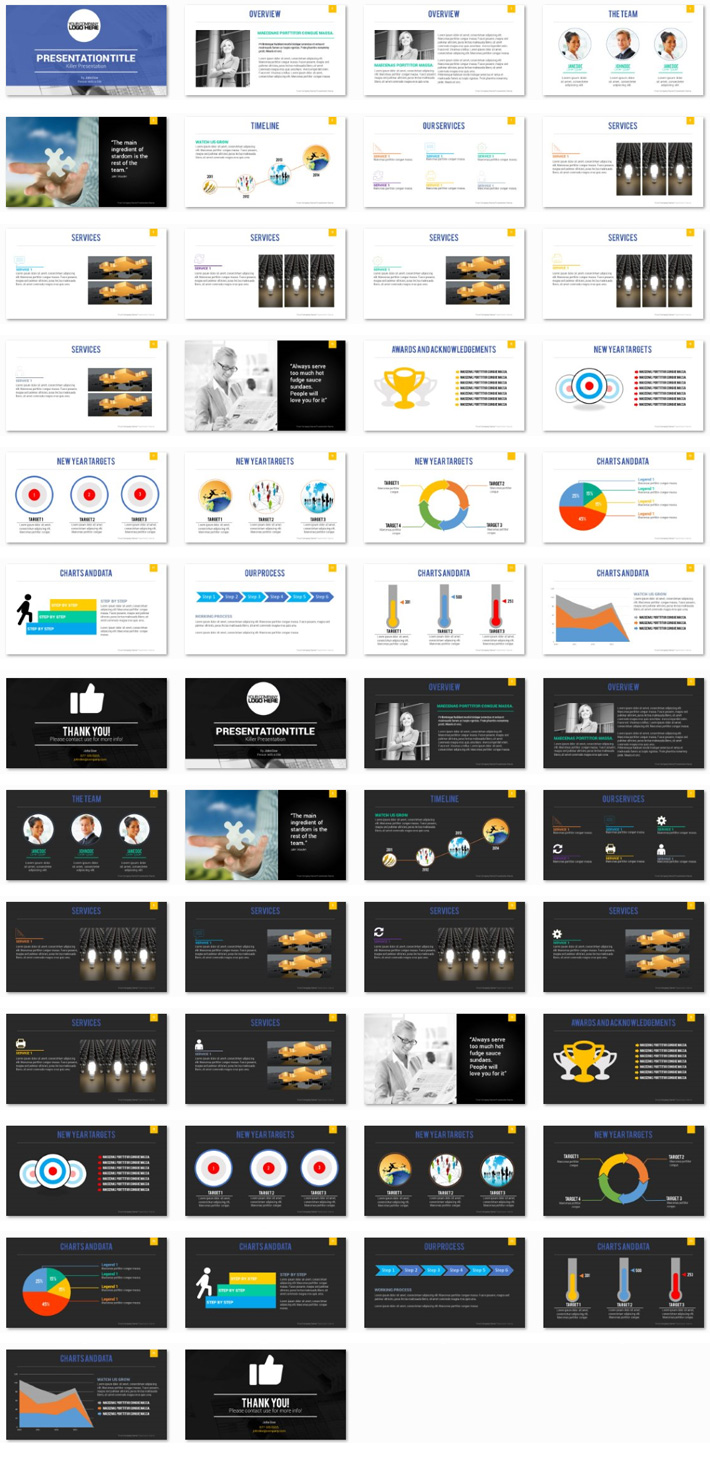 Power Presentation: Modern Clean PPT Premium PowerPoint Presentation Template Slide Set