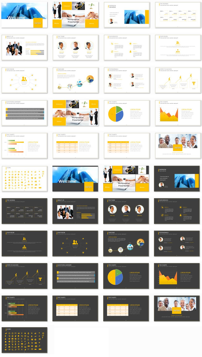 Power Presentation: Multipurpose PPT Premium PowerPoint Presentation Template Slide Set
