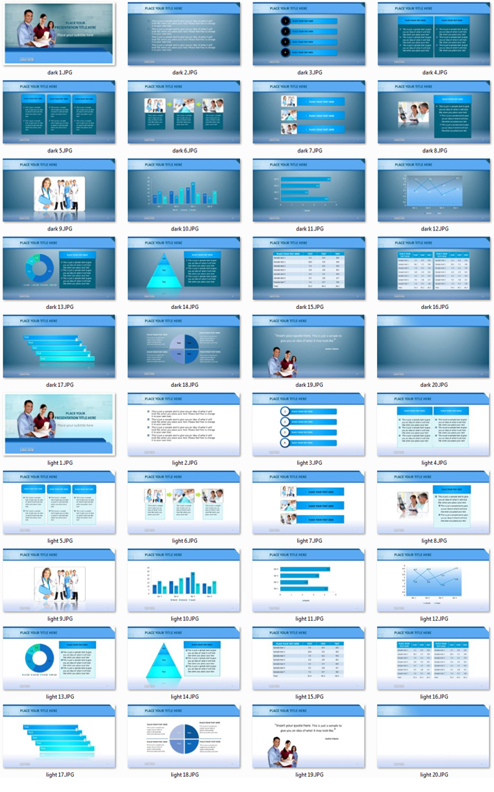 Power Presentation: Medical 2 PPT Premium PowerPoint Presentation Template Slide Set
