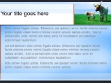 Download cattle graze blue PowerPoint Template and other software plugins for Microsoft PowerPoint