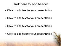 Wheat PowerPoint template background in Agriculture Animals