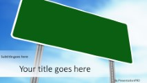 Blank Road Sign Widescreen PowerPoint Template Background