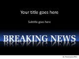 Breaking News 2 PPT PowerPoint Template Background