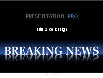 breaking news 2 powerpoint template background in business, Modern powerpoint