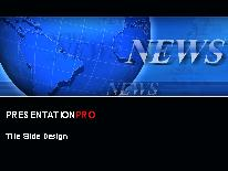 breaking news blue powerpoint template background in business, Modern powerpoint