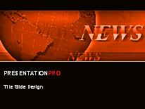 breaking news orange powerpoint template background in business, Modern powerpoint