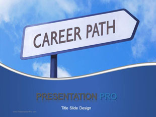 Career Path Sign PowerPoint template background in Business ...