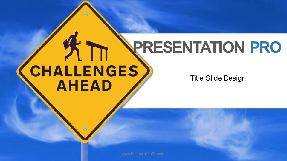 challenges ahead widescreen powerpoint template background in