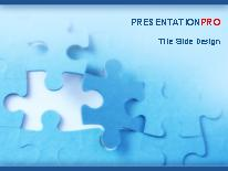jigsaw puzzle piece powerpoint template background in business, Modern powerpoint