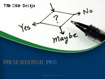 Yes No Maybe PPT PowerPoint Template Background