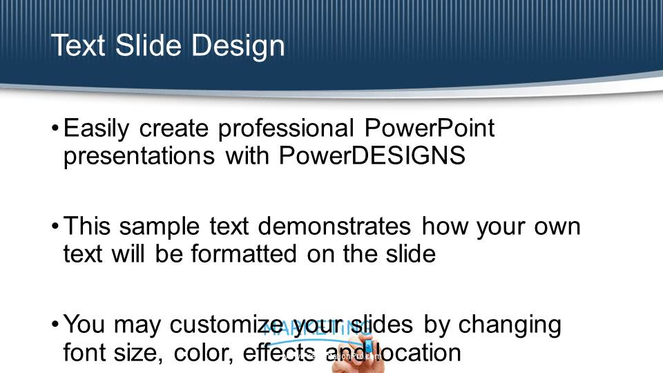 marketing on white board widescreen powerpoint template marketing on
