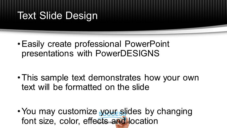 Success on white board black widescreen powerpoint template presentationpro powerpoint products and services toneelgroepblik Choice Image