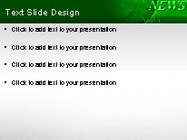 Download breaking news green PowerPoint Template and other software plugins for Microsoft PowerPoint