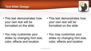 Mind Blowing Idea Widescreen PowerPoint template background