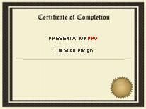 certificate of completion powerpoint template background in, Powerpoint