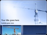 Construction Crane PowerPoint template background in Construction ...