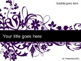 Floral abstract purple powerpoint template background in download floral abstract purple powerpoint template and other software plugins for microsoft powerpoint toneelgroepblik Image collections