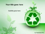 Recycle with leaves powerpoint template background in environmental download recycle with leaves powerpoint template and other software plugins for microsoft powerpoint toneelgroepblik Gallery