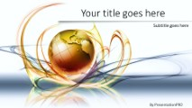 global swirls a widescreen powerpoint template background in, Powerpoint