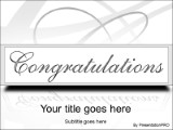 Congratulations PowerPoint template background in Holiday and ...