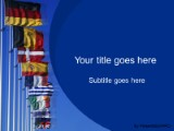 europeanunion powerpoint template background in flags, Modern powerpoint