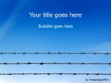 Barb wire security powerpoint template background in legal download barb wire security powerpoint template and other software plugins for microsoft powerpoint toneelgroepblik Gallery