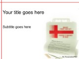 first aid powerpoint template background in medical - healthcare, Powerpoint templates