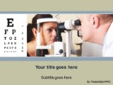 Ophthalmologist exam powerpoint template background in medical download ophthalmologist exam powerpoint template and other software plugins for microsoft powerpoint toneelgroepblik Images