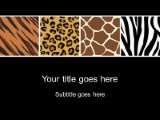 animal prints powerpoint template background in nature powerpoint, Modern powerpoint