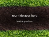 Grass and soil powerpoint template background in nature powerpoint grass and soil ppt powerpoint template background toneelgroepblik Images