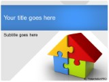 Download housing puzzle PowerPoint Template and other software plugins for Microsoft PowerPoint