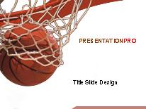 basketball powerpoint template background in sports and leisure, Modern powerpoint