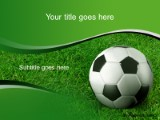 soccer grass powerpoint template background in sports and leisure, Powerpoint templates