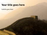 great wall of china powerpoint template background in tourism, Modern powerpoint