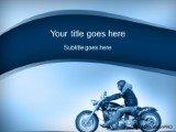 Download motorcycle ride blue PowerPoint Template and other software plugins for Microsoft PowerPoint