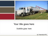 Download truckin grain PowerPoint Template and other software plugins for Microsoft PowerPoint