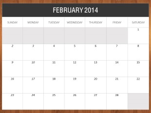 2014 Desk Calendar PowerPoint template background in Calendar ...