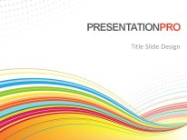 abstract color flow powerpoint template background in powerpoint, Modern powerpoint