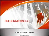 Individuality PPT PowerPoint Template Background